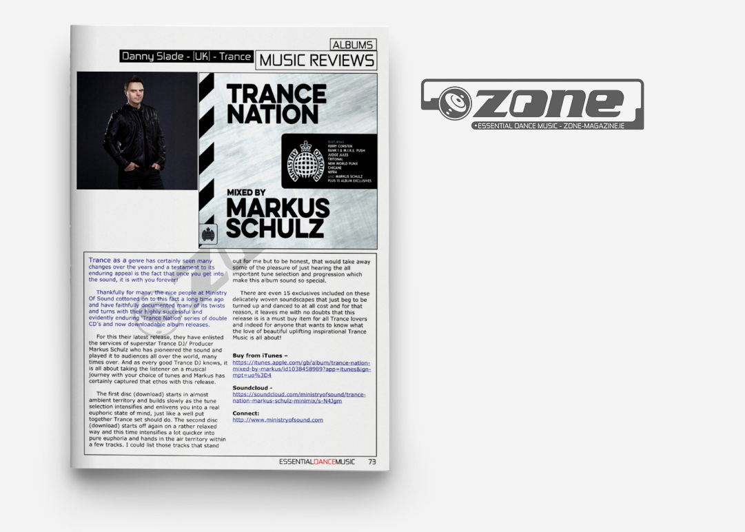 Trance Nation print press coverage